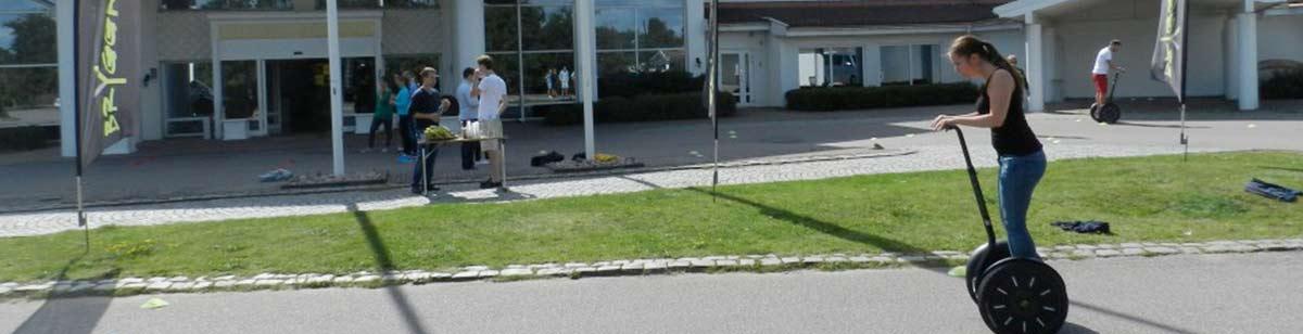Kör segway som aktivitet till konferensen på Falkenberg Strandbad