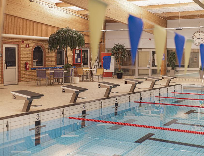 Klitterbadets bassäng som ligger i anknytning till Falkenberg Strandbad